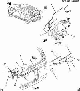 2002 Chevrolet Trailblazer Base Hose  Rear Window Wiper