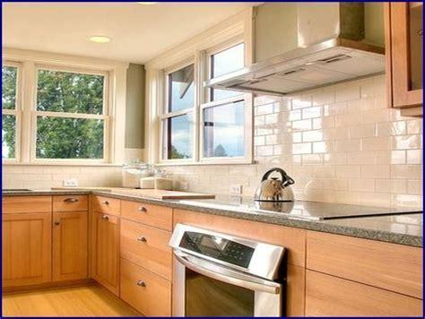 kitchen tile backsplash ideas with maple cabinets   Google