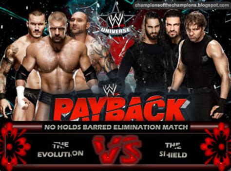 WWE Payback 2014 - The Shield vs Evolution by Jahar145 on ...