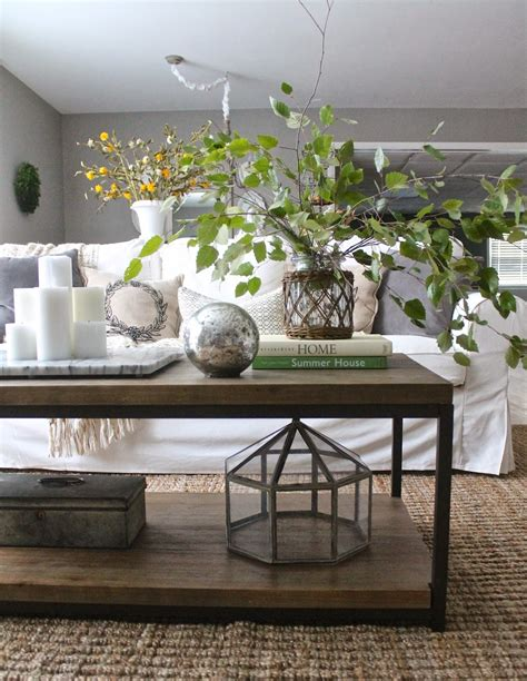 You can always replace your books, add or take away some magazines, change the coasters or the tray, fill your vase with fresh flowers, adding boxes, etc … you get the idea. 12th and White: 3 Ways to Style a Coffee Table