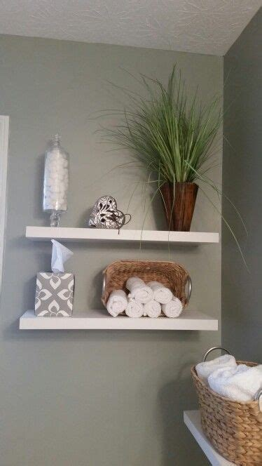 Love The Floating Shelves In My Spa Themed Bathroom Lowe