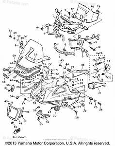 Yamaha Motorcycle 1989 Oem Parts Diagram For Fairing