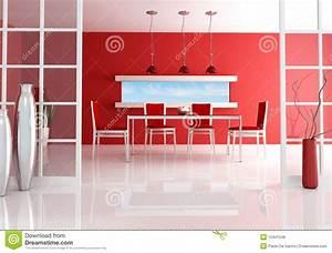 salle a manger rouge image libre de droits image 12441546 With salle a manger rouge