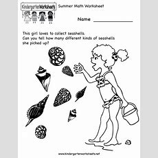 Free Printable Holiday Worksheets  Kindergarten Summer Math Worksheet Printable Holiday