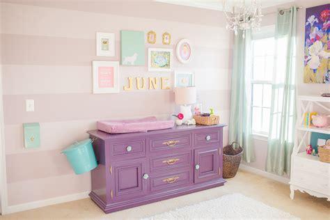 june s purple teal and mauve striped nursery project nursery