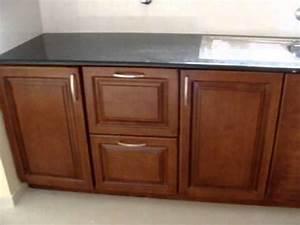 Modular Kitchen-American Walnut Finish-Kochi - YouTube
