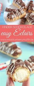 Backen Mit Kinderschokolade : einfache eclairs mit kinder schokolade easy eclairs brandteig ~ Frokenaadalensverden.com Haus und Dekorationen