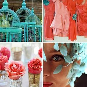 Turquoise and coral wedding pinterest for Coral and turquoise wedding ideas