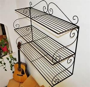 Etagere En Fer Pour Garage : etag re murale en fer forg mobilier en fer forg aix ~ Edinachiropracticcenter.com Idées de Décoration