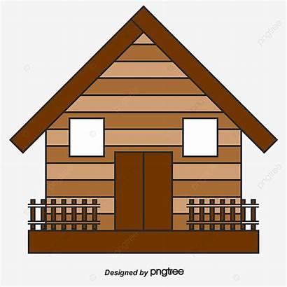Hut Cartoon Forest Clipart Tribal Nipa Huts