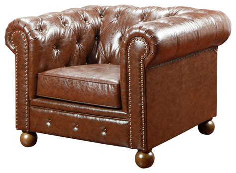Winston Bonded Leather Sofa Chair & Reviews