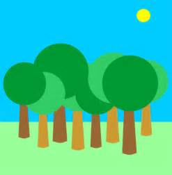 Cartoon Forest Trees Clip Art