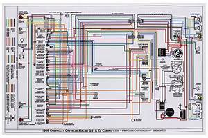 Wiring Diagram  1966 Chevelle  El Camino  11x17  Color