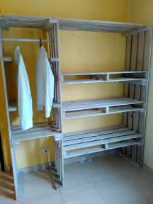 Unfinished Wardrobe Closet by Pallet Closet Wardrobe Made From Pallets 99 Pallets
