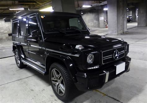 The striking front end of the vehicle featured three headlamps and horizontal air intake slits instead of the classic radiator grille. File:Mercedes Benz G63 AMG Long front.JPG - Wikimedia Commons