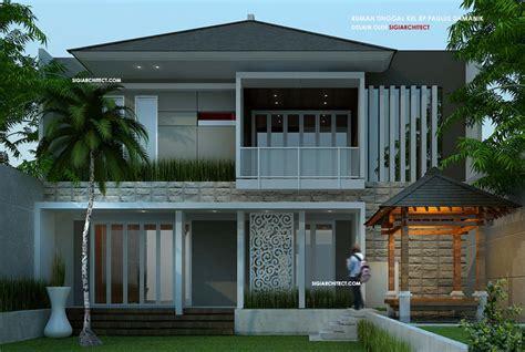 desain rumah tropis modern minimalis terbaru