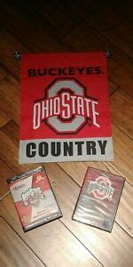Two Ohio State Football DVDs & OSU Country Window Flag 18 ...