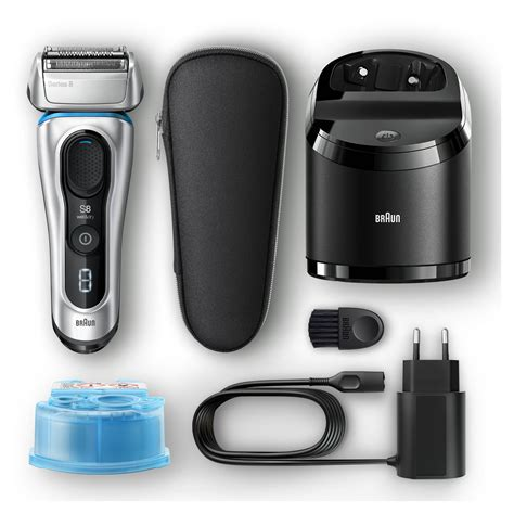 braun series 8 braun series 8 8370cc electric foil shaver with clean and