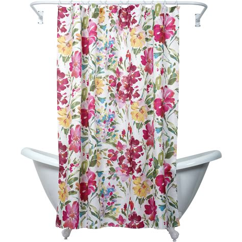 Floral Shower Curtains - zenna home india ink watercolor floral shower curtain