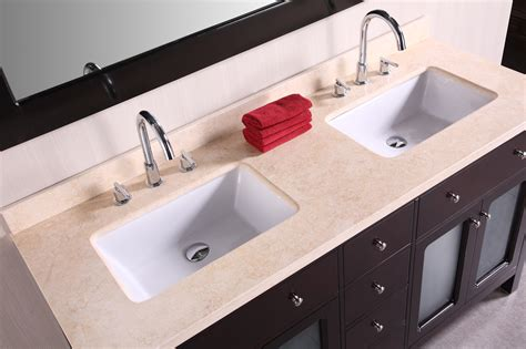 Art Denton Inch Double Sink Bathroom Vanity, Beige