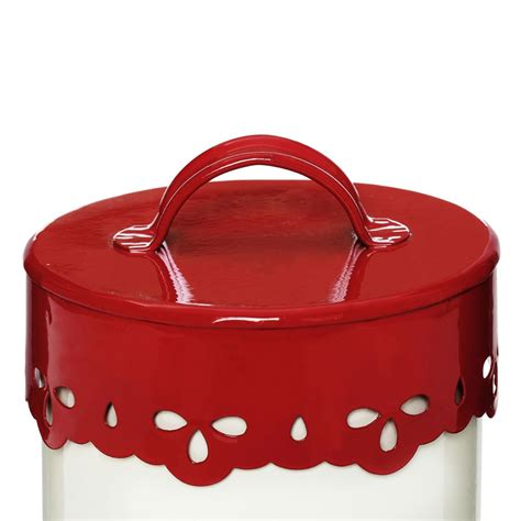 More than 56 red canister set at pleasant prices up to 5 usd fast and free worldwide shipping! Anglaise Tea, Coffee & Sugar Canister Set, Cream/Red - Looknbuy.co.uk