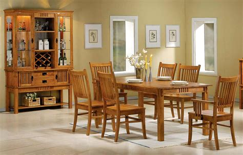 mission style dining room sets white wash kitchen cabinets