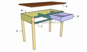 Computer desk plans HowToSpecialist - How to Build, Step