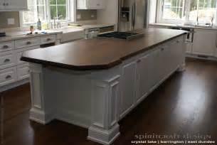 kitchen island butcher block table custom walnut slab kitchen island top by spiritcraft