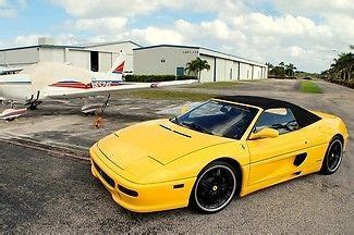 It was offered at a time when very few cars were equipped as such; Find used 1997 Ferrari F 355 SPYDER SCUDERIA CHALLENGE F1 RACING FORMULA LEATHER in Pompano ...