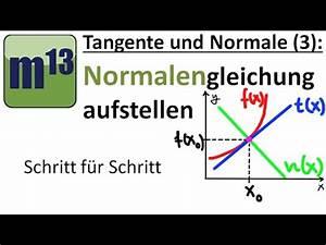 Tangente Und Normale Berechnen : tangente und normale 3 normalengleichung aufstellen youtube ~ Themetempest.com Abrechnung