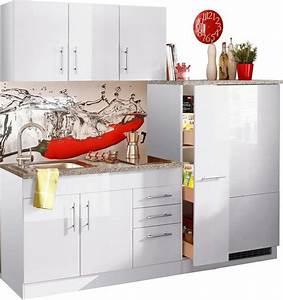 Küche 180 Cm : held m bel single k che toledo breite 180 cm inklusive glaskeramik kochfeld und k hlschrank ~ Watch28wear.com Haus und Dekorationen