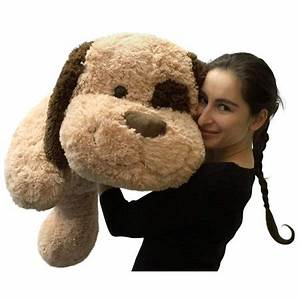 Giant Stuffed Dog 36 Inches Big Plush Soft Brown Oversized ...