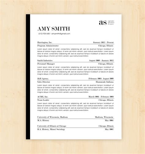 resume sle docx file resume template cv template the smith resume design instant word document