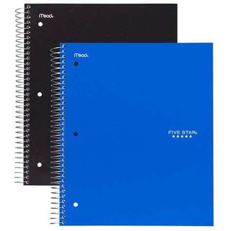 2 inch notebooks amazon com five star spiral notebooks 5 subject college