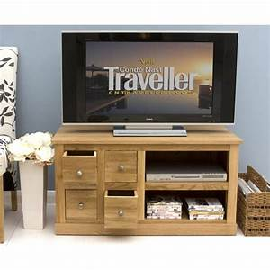 Mobel Oak 4 Drawer Television Cabinet