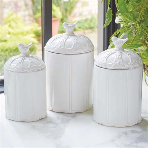 White Canisters For Kitchen by Canisters For Kitchen Homes By Ottoman Finest White