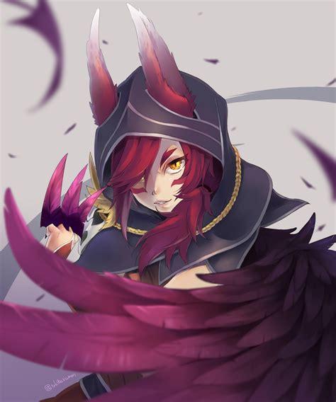 anime legend xayah league of legends zerochan anime image board