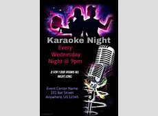 Karaoke night template PosterMyWall