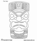 Tiki Coloring Printable Mask Hawaiian Tikki Printables Masks Template Moana Faces Malerei Luau Holz Hawaii Templates Totem Adults Crafts Fiesta sketch template