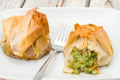 filo pastry cases canapes canape parcels stock image image of canapes snacks