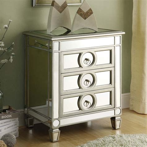Cheap Nightstands Canada by Monarch Specialties Mirrored Accent Table Lowe S Canada