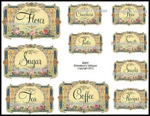 labels for kitchen canisters vintage kitchen canister and pantry labels