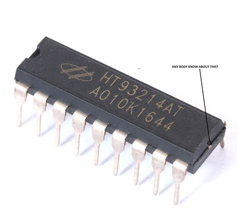 Integrated Circuit What The Point Small Mark