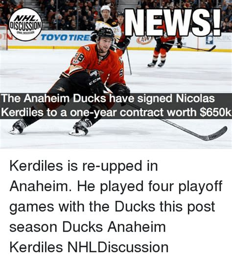 Anaheim Ducks Memes - news discussion toyo tire ific the anaheim ducks have signed nicolas kerdiles to a one year