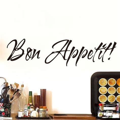 cuisine stickers dctop bon appetit food black vinyl wall stickers kitchen