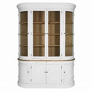 Vaisselier Blanc Et Bois : vaisselier vitr 8 portes en pin recycl blanc patin d coration pinterest ~ Nature-et-papiers.com Idées de Décoration