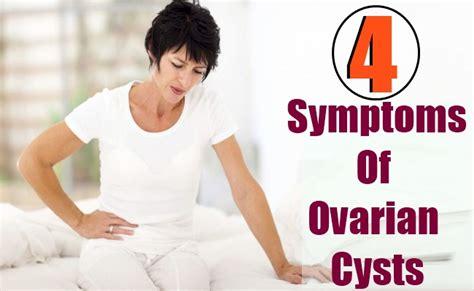 symptoms  ovarian cysts lady care health