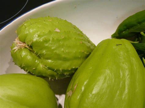 cuisiner des christophines chayotte ou christophine potager