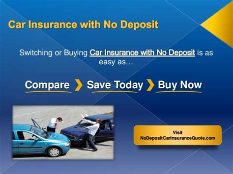 Car Insurance Companies With No Deposit