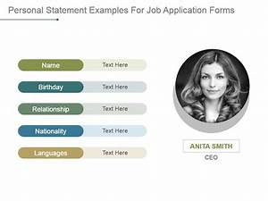 personal profile design templates - personal statement examples for job application forms